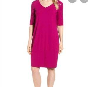 Eileen Fisher V-Neck Tencel Dress